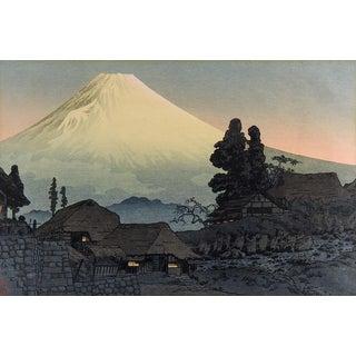 Hiroaki Takahashi Mt. Fuji Woodblock Print For Sale