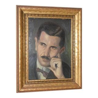 Vintage Oil Portrait of Major Adalbert Kuffer by Judge Dlugolinsky C.1925