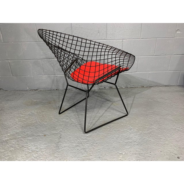 1950s Harry Bertoia for Knoll Mid-Century Modern Diamond Chair With Red Seat C. 1952 For Sale - Image 5 of 13