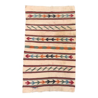 Circa 1920 Navajo Style Double Saddle Blanket For Sale