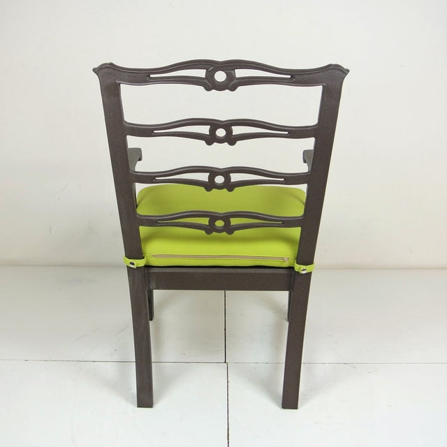 Green Arlington Dining Chair & Custom Fit Cushion For Sale - Image 8 of 9