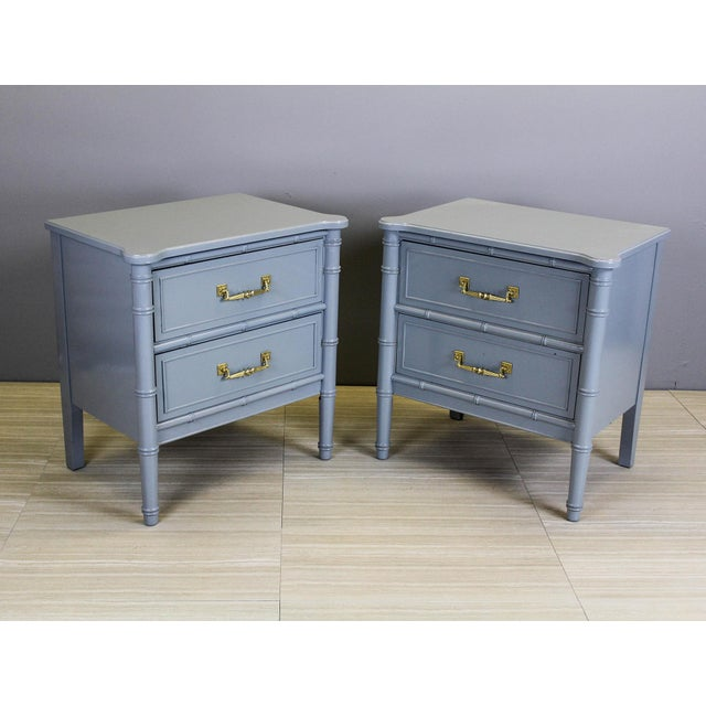 Vintage Palm Beach Style Nightstands - A Pair - Image 2 of 11