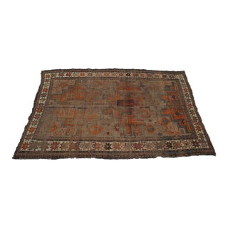 Distressed Oushak Rug- 3′7″ × 5′5″