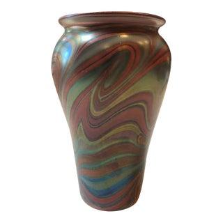 Orient & Flume Art Glass Swirl Vase For Sale