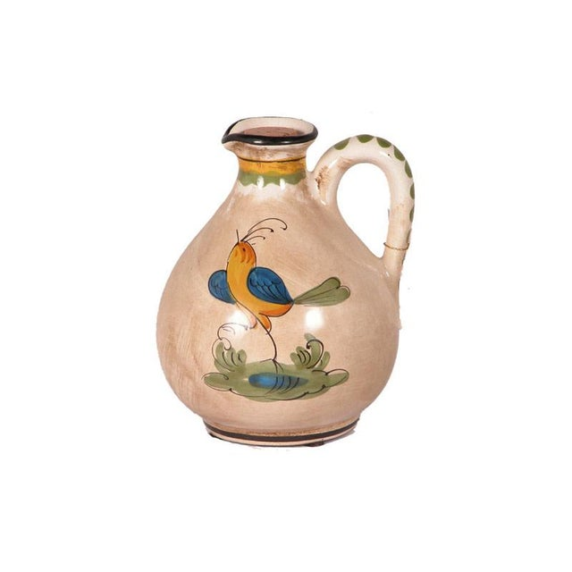 Hand-Painted Ceramic Bird Pitcher For Sale - Image 10 of 10