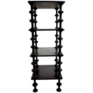 Folky Architectural Spool Stand For Sale