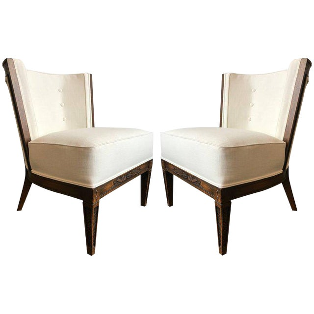 Pair of Romweber Side Chairs For Sale
