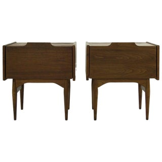 Scandinavian Drop Teak Front End Tables, 1960s - a Pair For Sale