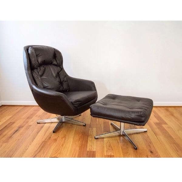 Mid Century Selig Egg Lounge Chair U0026 Ottoman   Image 2 Of 10