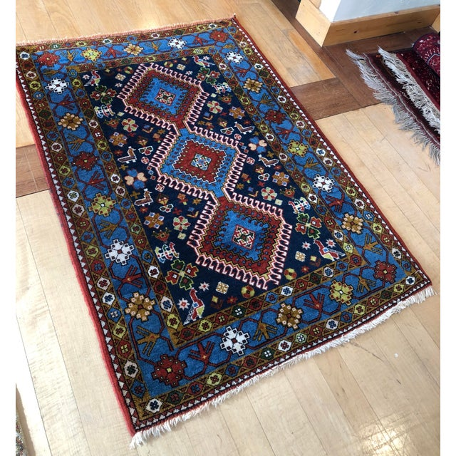 "Tribal 1950s Vintage Hand-Knotted Wool Tribal Afshar Rug-3'6""x5'1"" For Sale - Image 3 of 13"