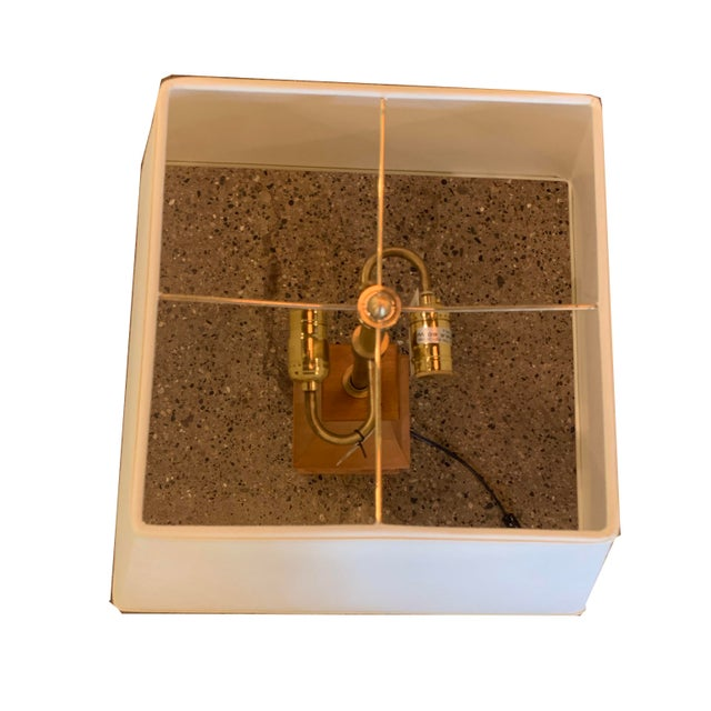 Perfect lamp for a cottage or lodge! This is a maple wood lamp by Thomas Pheasant for Baker Furniture. Has one slight...