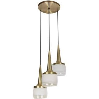 1960s Staff Leuchten Large 3-Pendant Chandelier For Sale