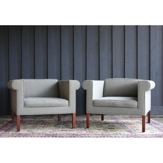 Bauhaus Charles McMurray Postmodern Lounge Chairs, a Pair For Sale - Image 3 of 11