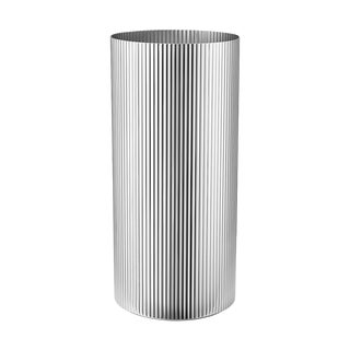 Georg Jensen Art Deco Stainless Steel Bernadotte Vase, Large For Sale