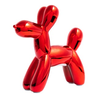 """Interior Illusions Plus Red Mini Balloon Dog Bank 7.5"""" tall For Sale"""