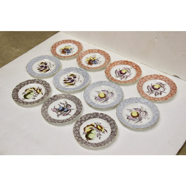 Traditional Antique Austrian Dessert Plates, S/11 For Sale - Image 3 of 8