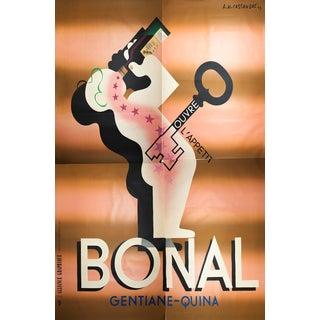"""1933 A.M. Cassandre """"Bonal"""" Quadriptych Serigraph Poster For Sale"""