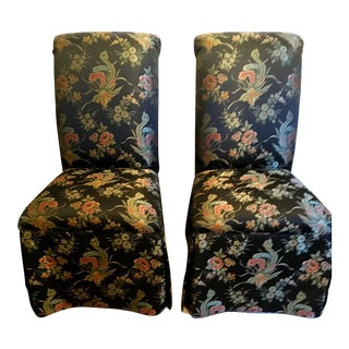 Pair of Ethan Allen Model Olivia Dining Chairs For Sale