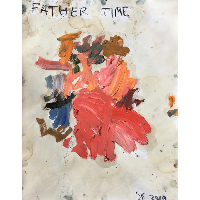 Abstract 'Father Time' Abstract Oil Painting by Sean Kratzert For Sale - Image 3 of 3