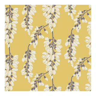 Mitchell Black Home Heartbreaker Dusty Yellow Prepasted Wallpaper For Sale