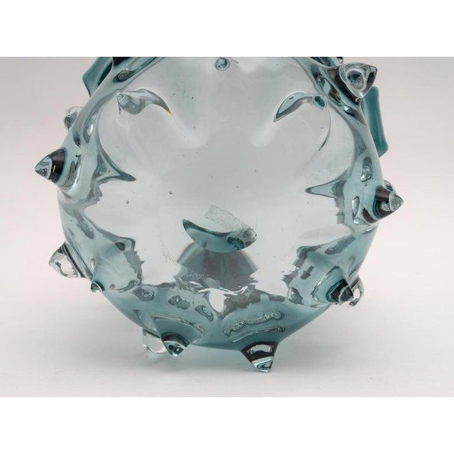 Glass 1960s Blue Murano Glass Vase by Barovier E Toso For Sale - Image 7 of 9