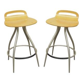 Calligaris Italian Modern Kitchen Island Counter Bar Stools Chairs - a Pair