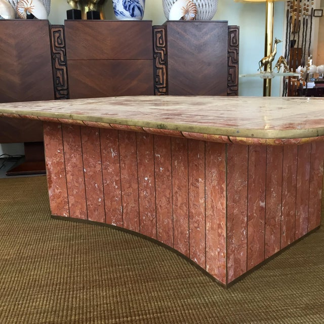 Pink Tessellated Stone Coffee Table by Casa Bique For Sale In Richmond - Image 6 of 8