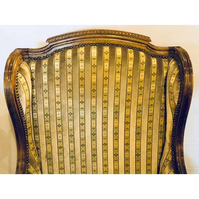 Louis XVI Louis XVI Living Room Suite Couch and Two Lounge Chairs - Set of 3 For Sale - Image 3 of 14