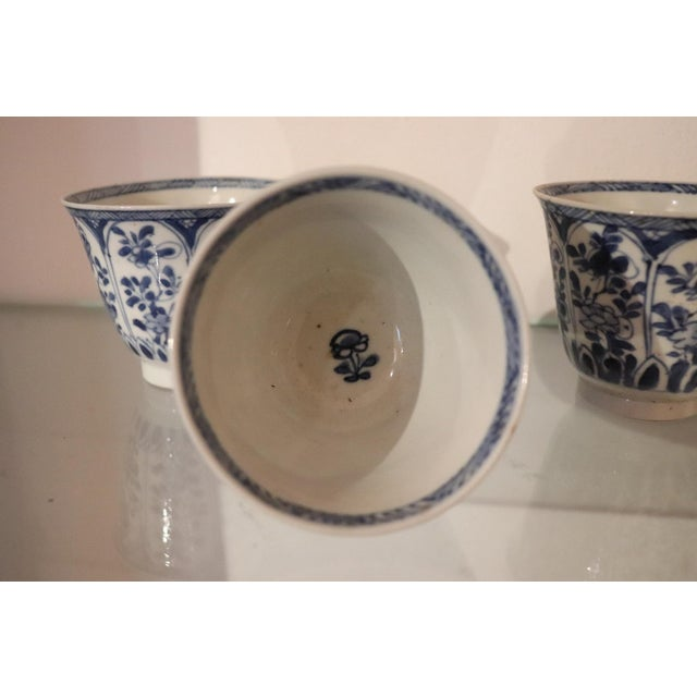 19th Century Set of Three China Ceramic Cups For Sale - Image 4 of 8