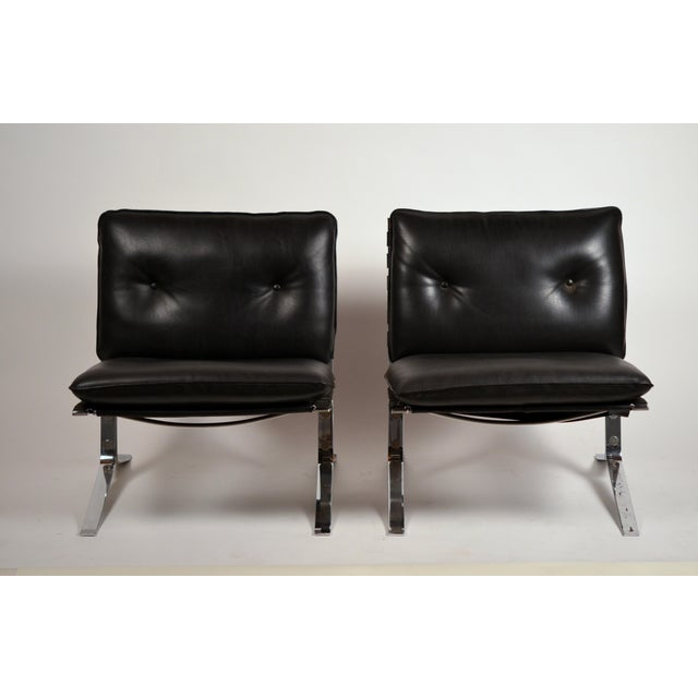 Rare pair of original 'Joker' lounge chairs by Olivier Mourgue for Airborne. Designed in the early 1970s, and manufactured...