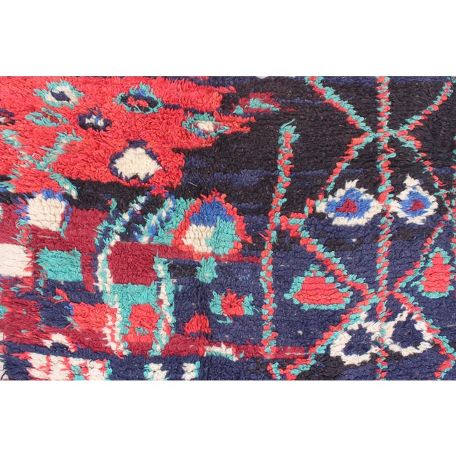 "Vintage Azilal Moroccan Berber Rug - 3'10"" X 6'7"" - Image 2 of 5"