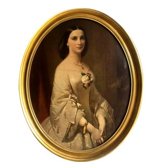 Vintage Framed Portrait Reproduction of Southern Belle by Erich Correns For Sale