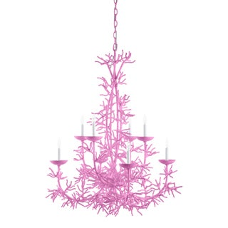 Calypso Chandelier, Lilac Pink For Sale