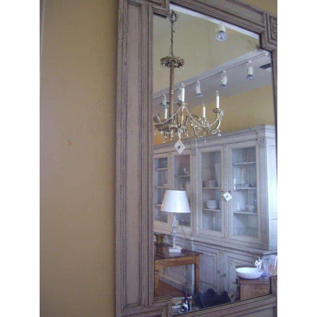 Light Gray 19th C. Italian Painted Church Frame Wall Mirror For Sale - Image 8 of 9