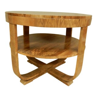 Art Deco 1930's Walnut Table For Sale