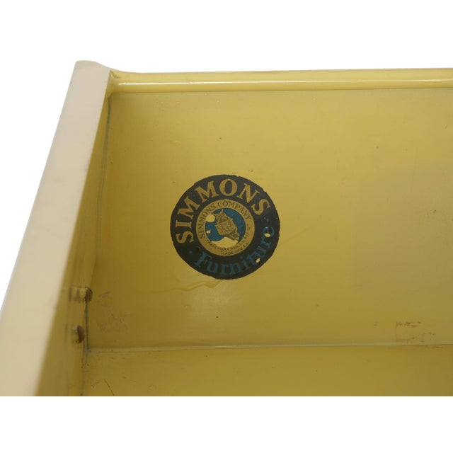 Circa 1930s Art Deco Yellow Enamel Chest of Drawers Dresser by Norman Bel Geddes For Sale - Image 12 of 13