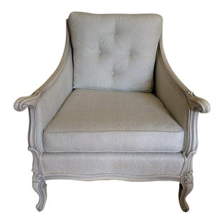 1960's Vintage French Provincial Mint Chair For Sale