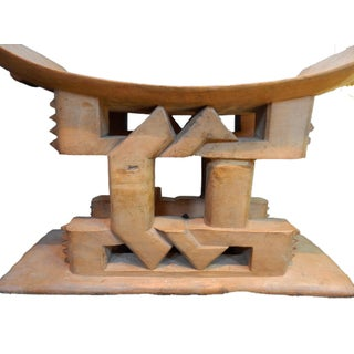 Rare Old Ashanti Carved Wood Stool Preview