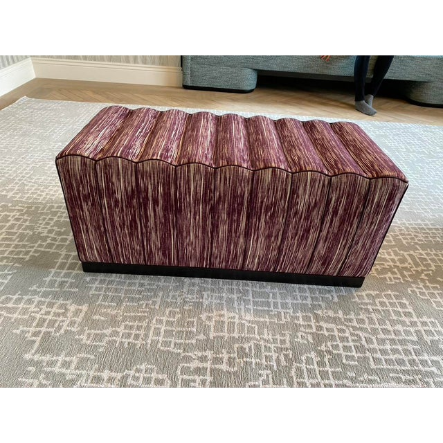 Featured in the 2020 San Francisco Decorator Showcase — Custom Maroon Dining Bench, Pair Available For Sale - Image 9 of 9
