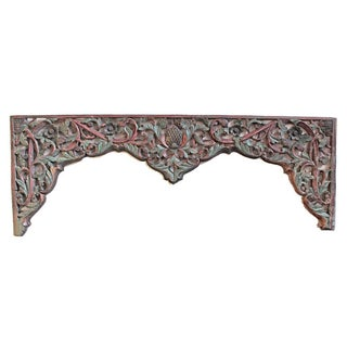 Rustic Javanese Carved Panel For Sale