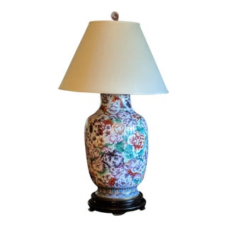 Multi-Color Cloisenne Vase Lamp
