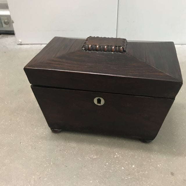 Antique Rosewood Double Caddy Box For Sale - Image 10 of 10