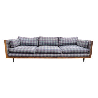 1960s Vintage Milo Baughman Style Floating Rosewood Case Sofa For Sale