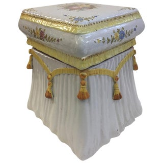Very Pretty Italian Garden Seat End Table For Sale