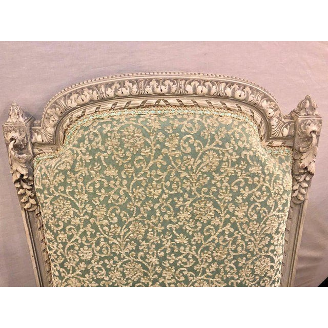 Mid-Century Modern Pair of 19th-20th Century Paint Decorated Louis XVI Style Swedish Side Chairs For Sale - Image 3 of 13