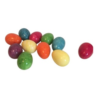 Italian Alabaster Marble Easter Eggs - Set of 11 For Sale