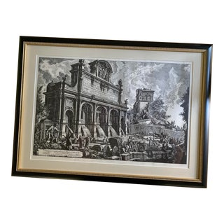 Framed Print of Italian Fountain For Sale