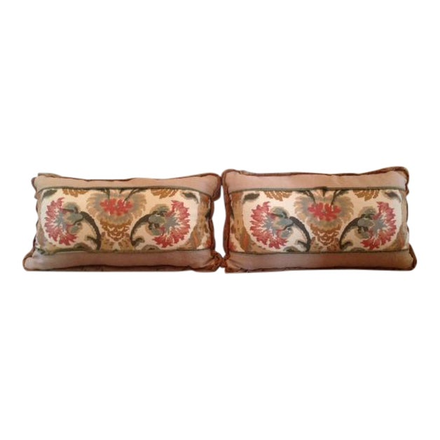 Custom Designed Lumbar Pillows - Pair - Image 1 of 8