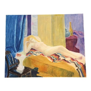 Vintage Original Female Nude Painting