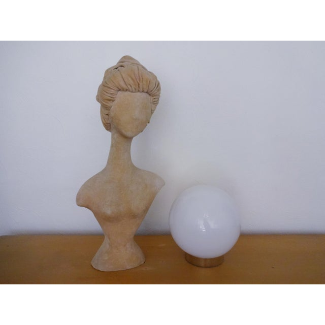 Plastic 1940s Abstract Velvet Mannequin Bust For Sale - Image 7 of 10